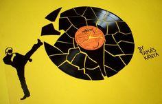 vinyl records art in hungary by tamas kanya chuck norris