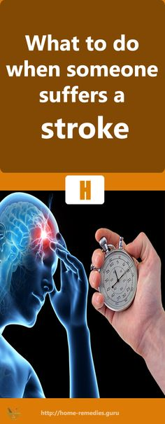 What to do when someone suffers a stroke