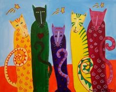 now these are cool cats / Acryl