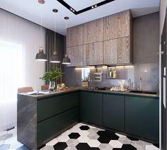 Невероятная кухня-гостиная из #project_rich, 26,7 кв.м.🤩 . Кухня-гостиная - это всегда «сердце квартиры»🧡, здесь проходят семейные вечера и… Ikea Interior, Kitchen Interior, Interior Design, Fancy Kitchens, Home Kitchens, Kitchen Island Decor, Best Kitchen Designs, Minimalist Kitchen, Kitchen Living