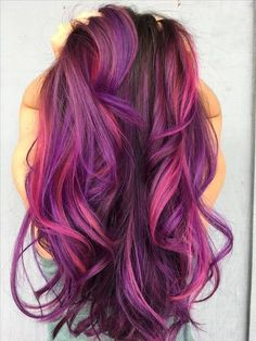 95 Purple Hair Color Highlights Lowlights For Dark Burgundy Plum Violets Colors Purple pink creation! Looks slot like my current hair color! Dark Purple Hair, Magenta Hair, Plum Hair, Hair Color Purple, New Hair Colors, Cool Hair Color, Purple Hair Streaks, Pink Purple, Black Cherry Hair