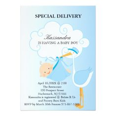 Look what the stork brought stork baby showers shower invitations pink baby boy stork baby shower invitation filmwisefo
