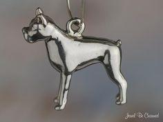 Boxer Dog Charm Sterling Silver Breed Purebred. $24.95, via Etsy.