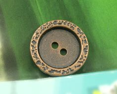 Stone Texture Border Metal Buttons , Copper Color , 2 Holes , 0.87 inch , 10 pcs by Lyanwood, $6.00