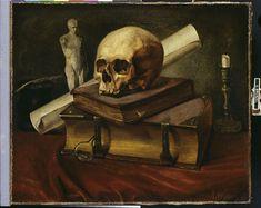 Wimmel Johannes (1823-1892) - Nature-morte; Vanité - Peinture  1842