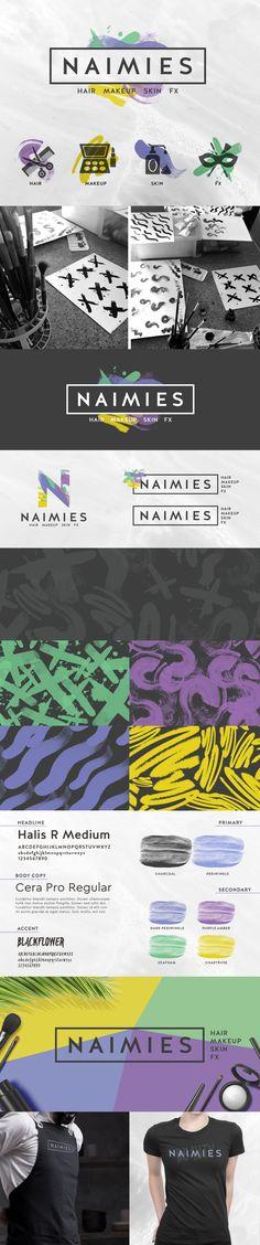 Naimies Concept Brand Identity | EyeSavvy Design Studio | Brand Design, Visual Brand #Pattern #BrandIdentity #Logo #Design #VisualBrand