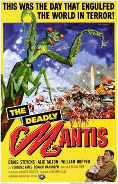 The Deadly Mantis (1957) art by Reynold Brown