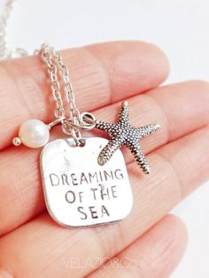 Dream of the Sea Necklace Freshwater Pearl or by VelazioAndCo