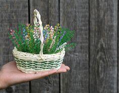 Basket of flowers Heather Flower Arrangement Flowers Gift Home