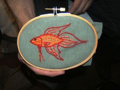 Beta fish embroidery!