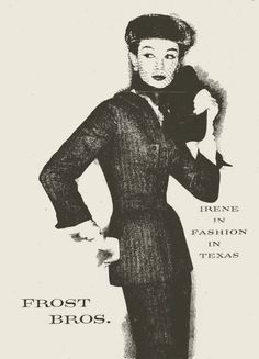 Irene Lentz suit at Frost Bros. 1956 Couture Allure Vintage Fashion