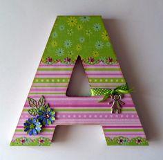 Letter and frame for a little girl Arlet. Inspiration. Scrapapers: Letra y marco para Arlet