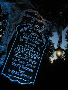 Easy to make Cemetery Sign
