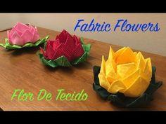 Como Fazer Flores de Tecido - How to Fabric Flowers - E4