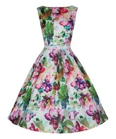 Loving this Lindy Bop Dream Floral Audrey Dress on #zulily! #zulilyfinds