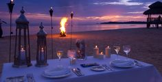 Whitehouse, Jamaica Romantic dinner here at Sandals Whitehouse.  Very romantic. Loved it.