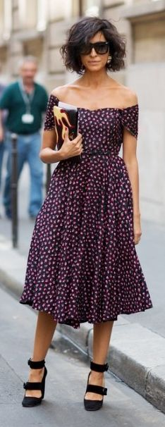 Pretty Plum dotted dress, make it a little shorter for me, but it's beautiful anyway.
