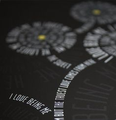 8x10 Love Flower Typography Print He Loves Me He Loves Me Not Black White