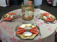 Orange and Saffron. #yyceventrentals #yycweddings #wedding decor #eventdecor www.greateventsrentals.com