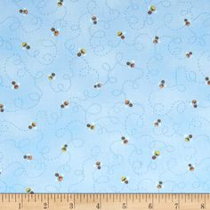 Good Morning Sunshine Bees Blue from @fabricdotcom  Designed by Beth Logan for Henry Glass & Co., this cotton print fabric is perfect for quilting, apparel and home decor accents. Colors include white, yellow, orange, brown and shades of blue.