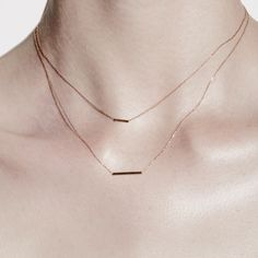 """Sterling Silver pendant on Sterling Silver chain. Tube length, 1.6cm. Chain length, 16"""" or 40cm. Sarah & Sebastian signature necklace. Styled in this imag"""