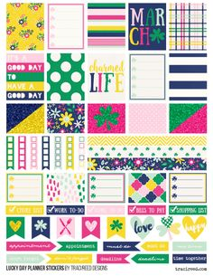 FREE Planner Stickers for the Erin Condren Life Planner by Traci Reed