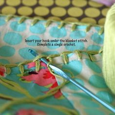 crochet edging how-to (in case more info needed for purl bee quilt w/crochet edging)
