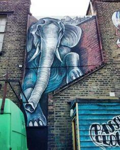 Street Art by Shaun Burner, located in London, UK