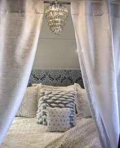 Can you believe this #glam bedroom is in a #forestriver #rpod travel trailer ? And on top of that, owner Melanie Schrock found that chandelier (which is plastic!) at a flea market for just $7! ♀️ Talk about glamping! . . . . . . #rv #motorhome #motorhomes #camper #campers #rvlife #rvliving #fulltimervlife #fulltimervlifestyle #fulltimervliving #fulltimerv #fulltimerver #fulltimervers #homeiswhereyouparkit #camperlife #fifthwheel #fulltime #digitalnomads #gorving #homeonwheels #adventurem...