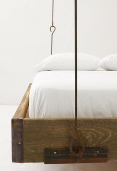 wooden bed hanging by roof decor bedrooms hanging beds pinterest hanging beds