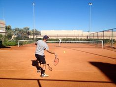 Early morning tennis with coach Fawz & Moroccan tennis pro Talal Ouahabi Four Seasons Marrakech, Early Morning, Moroccan, Tennis, Basketball Court, Real Tennis