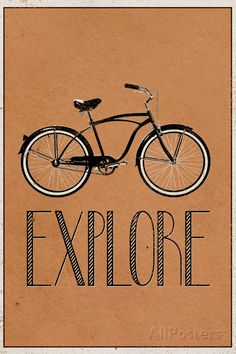 Explore Retro Bicycle Player Art Poster Print Transportation Poster - 61 x 91 cm Bike Poster, Poster S, Poster Prints, Art Prints, Retro Bicycle, Bicycle Art, Motivational Posters, Quote Posters, Art Posters