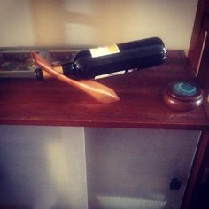 Counter balance wine holder