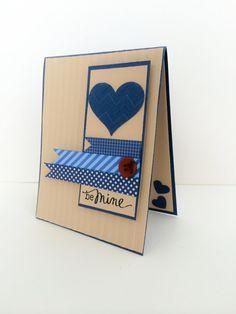 Valentine for Men Masculine Valentine Card Handmade by DressItUp4U