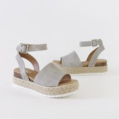 Wedge Sandals Neutral Wedge Sandals Slip On Wedge Sandals Outfit, Cute Sandals, Cute Shoes, Me Too Shoes, Pretty Sandals, Ankle Straps, Ankle Strap Sandals, Buy Running Shoes, Outfits Niños
