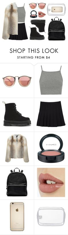 """Christopher Kane Fur"" by baludna ❤ liked on Polyvore featuring Topshop, Christopher Kane, MAC Cosmetics, Elizabeth and James and John Lewis"