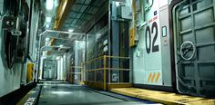 Boat Corridor Deus Ex 3 Concept by Eric Gagnon ★ Find more at http://www.pinterest.com/competing/