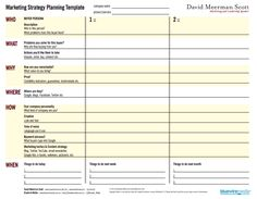 Marketing Plan Template Free New Marketing Strategy Template What Is Strategic Planning, Sample Strategic Plan, Strategic Planning Template, Business Plan Software, Writing A Business Plan, Business Plan Template, Business Planning, Doctors Note Template