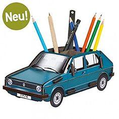 """Werkhaus Stiftebox """"VW Golf 1 Blau Büro Ordnungsbox Utensilienbox Schreibtisch Utensilio"""