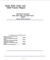 repair manual John Deere 5220 5320 5420 5520 Tractor Repair Technical Manual TM-2048 PDF