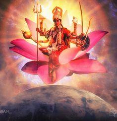 Jai maa Aadi Shakti Durga Kali, Kali Hindu, Goddess Art, Durga Goddess, Devon Ke Dev Mahadev, Shiva Parvati Images, Bridal Makeup Looks, Creativity Quotes, Lord Vishnu