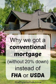 Trying to decide between a conventional mortgage, FHA, and USDA? Here are the factors that led us to choose a conventional mortgage with down. Buying First Home, Home Buying Tips, First Time Home Buyers, Mortgage Tips, Mortgage Rates, Mortgage Loan Originator, Home Equity, Home Ownership, Real Estate Marketing