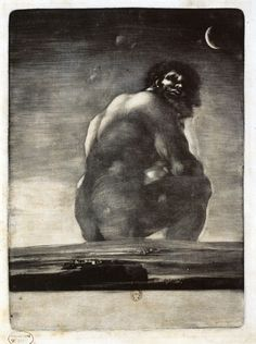 The Giant by Francisco Goya Art Espagnole, Kunsthistorisches Museum, Kunst Online, Spanish Artists, Old Master, Museum Of Fine Arts, Art Google, Les Oeuvres, Painting & Drawing