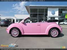 2010 Volkswagen New Beetle Convertible Pink / Black Photo Pink Beetle, Beetle Bug, Vw Beetles, Audi Tt, Ford Gt, Pink Love, Pretty In Pink, My Dream Car, Dream Cars