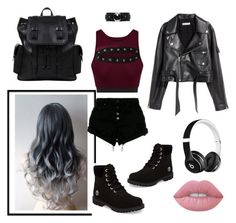 """""""Untitled #17"""" by kimtaehyungkim ❤ liked on Polyvore featuring Nobody Denim, SKINN, Beats by Dr. Dre, Oroton, Timberland and Lime Crime"""