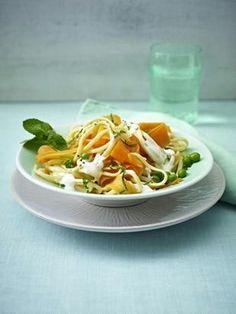 Was kommt heute auf den Teller? Möhren-Pasta mit Ricotta!