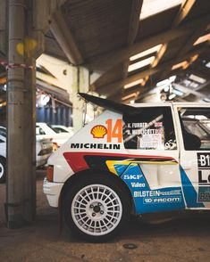 Stickers - Peugeot 205 T16 at Race Retro. Shot for @benzingarage #peugeot #205 #t16 #groupb #boost #turbo #rally #rallycar #michelin…