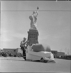 Barredora Tennant 24 en la Estatua de la Libertad