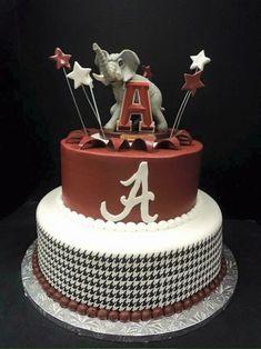 . Alabama Birthday Cakes, Alabama Grooms Cake, Alabama Cakes, Football Birthday, Camo Wedding Cakes, White Wedding Cakes, Wedding Cake Designs, Wedding Cake Toppers, Dragon Cakes
