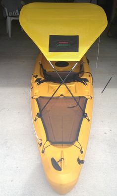 A kayak bimini! One accessory you need when you are kayaking! It  feels 10 degrees cooler under there! Can order one now! They are ready at www.adventurecanopies.com
